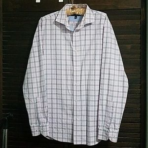 Banana Republic Lavendar Plaid Button Down